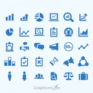 Chart-Analytical-Business-Icons-Set-Design