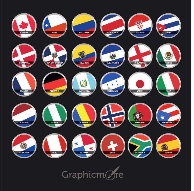 Countries Flag Icons Pack