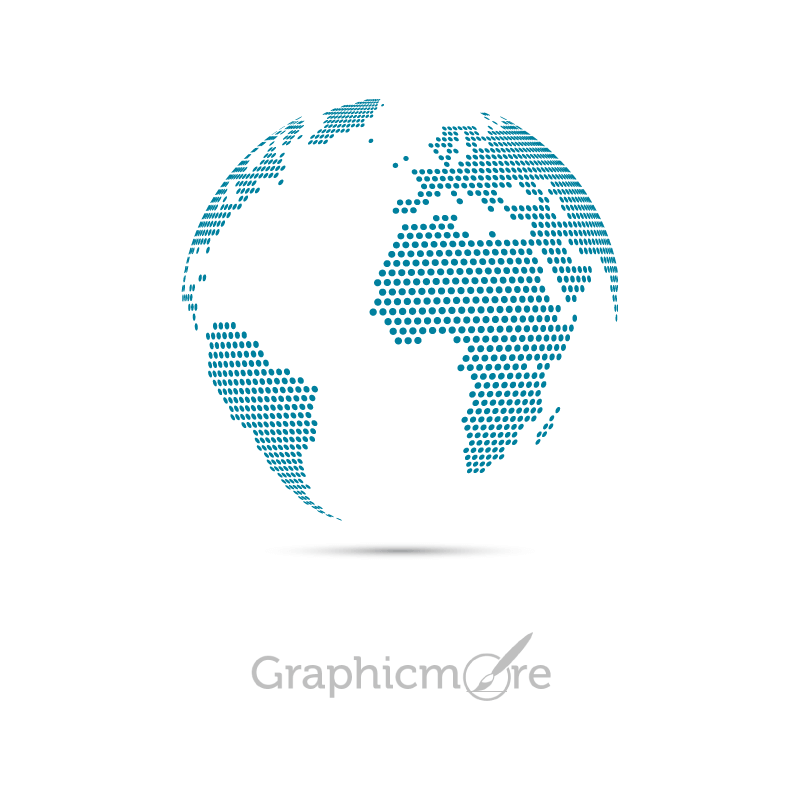 Dotted Map Globe Design
