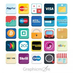 E-Commerce Icon Set Design Free PSD File