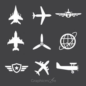 Free Avion Icons Set Design