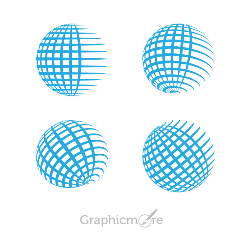 Globe Grid Shape Icons