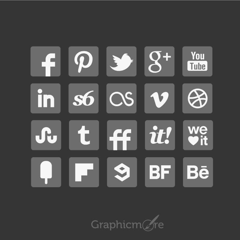 Grey-Social-Media-Icons-Set-Design-Free-Vector-File