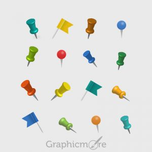 Location Map Pins Free PSD File
