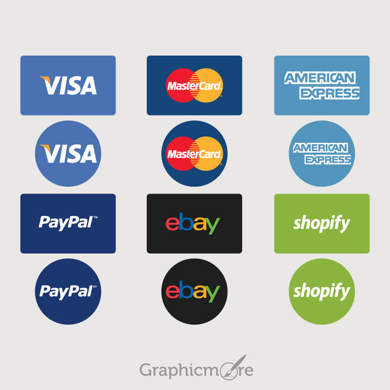 Payment Option Icons Set Design Free Vector File