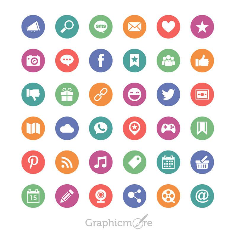 Social Media Circle Icons