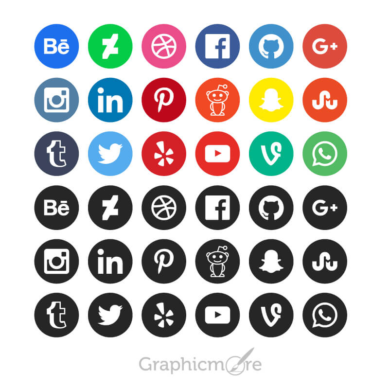 15 best social media icons vectors  u0026 psd free download