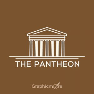 The Pantheon Italy Free Vector File