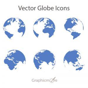 Vector Globe Icons Design