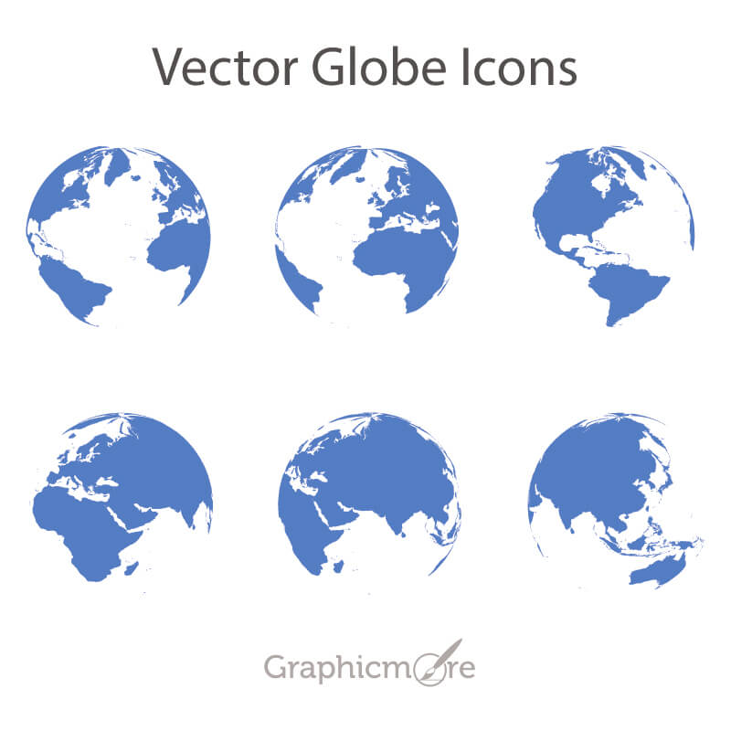 Vector Globe Icons Design