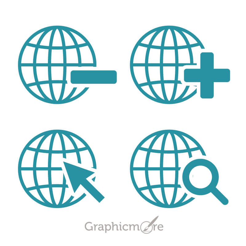 World Shape Icons Design