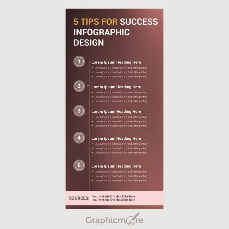 5 Tips for Success Infographic Design