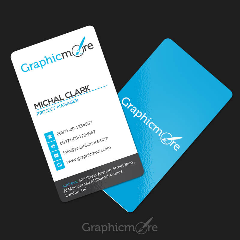 Clean Vertical Rounded Corner Business Card
