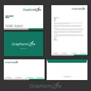 Green Corporate Identity Design Free PSD File