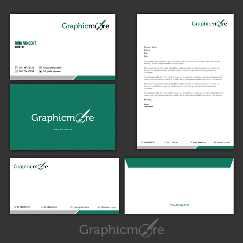 Green Corporate Identity Design Free PSD File