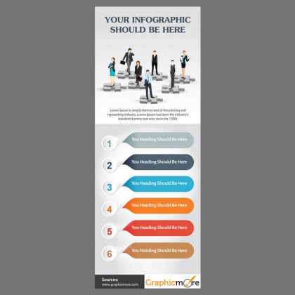 6 Steps Infographic Design