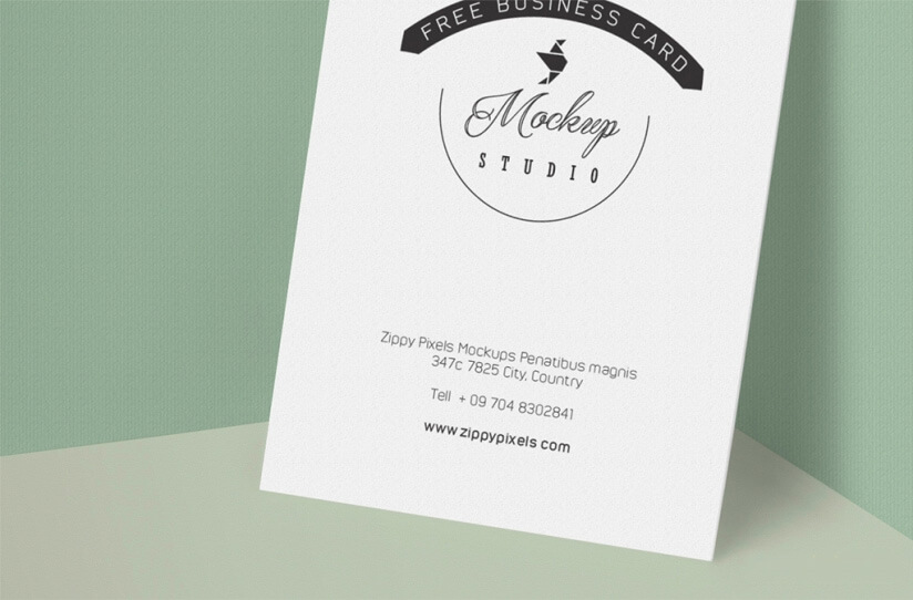 Customizable Free Business Card Mockup PSD