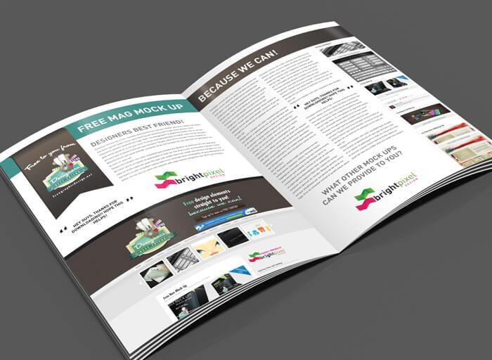 Free Magazine Page Layout Mockup