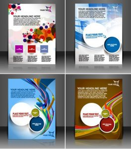 Modern Magazine Cover Design Vector