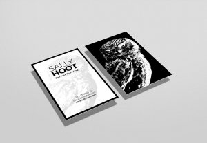 Vertical Business Card Display Mockup