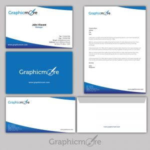 Blue Corporate Identity Design Free PSD File