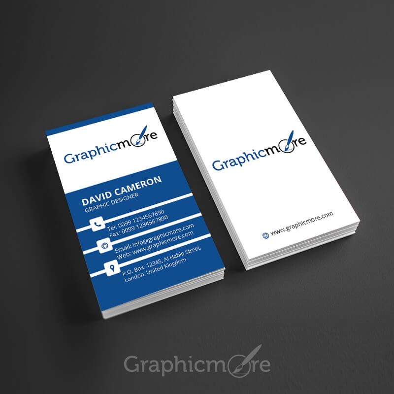 Free Vertical Business Card Mockups PSD Templates - Business card vertical template