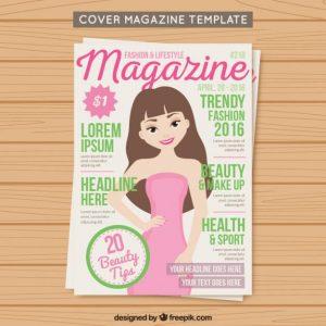 Cover fashion magazine template