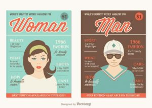 Retro Magazine Covers Free Vector
