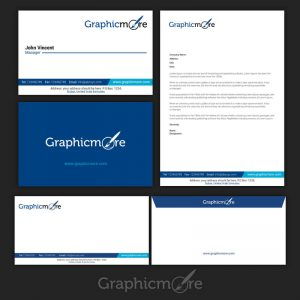 GraphicMore Navy Blue Branding Identity