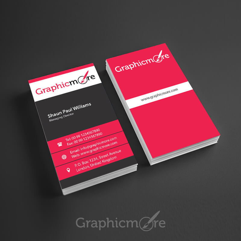 Corporate Vertical Business Card Design
