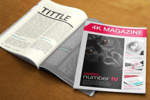 Free PSD Mockup – 4K Magazine