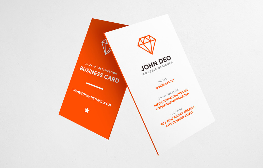 30 free vertical business card mockups psd templates free business card mockup psd reheart Gallery