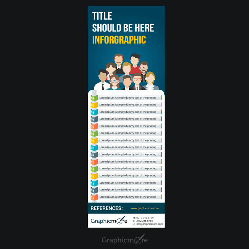 List of Anything Infographic Free PSD File