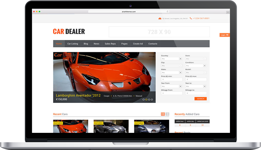 Car Dealer theme