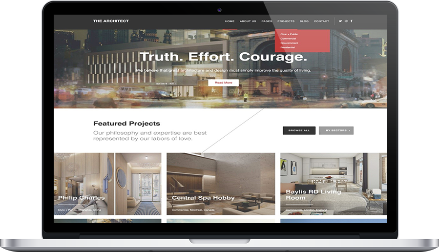 the architect theme