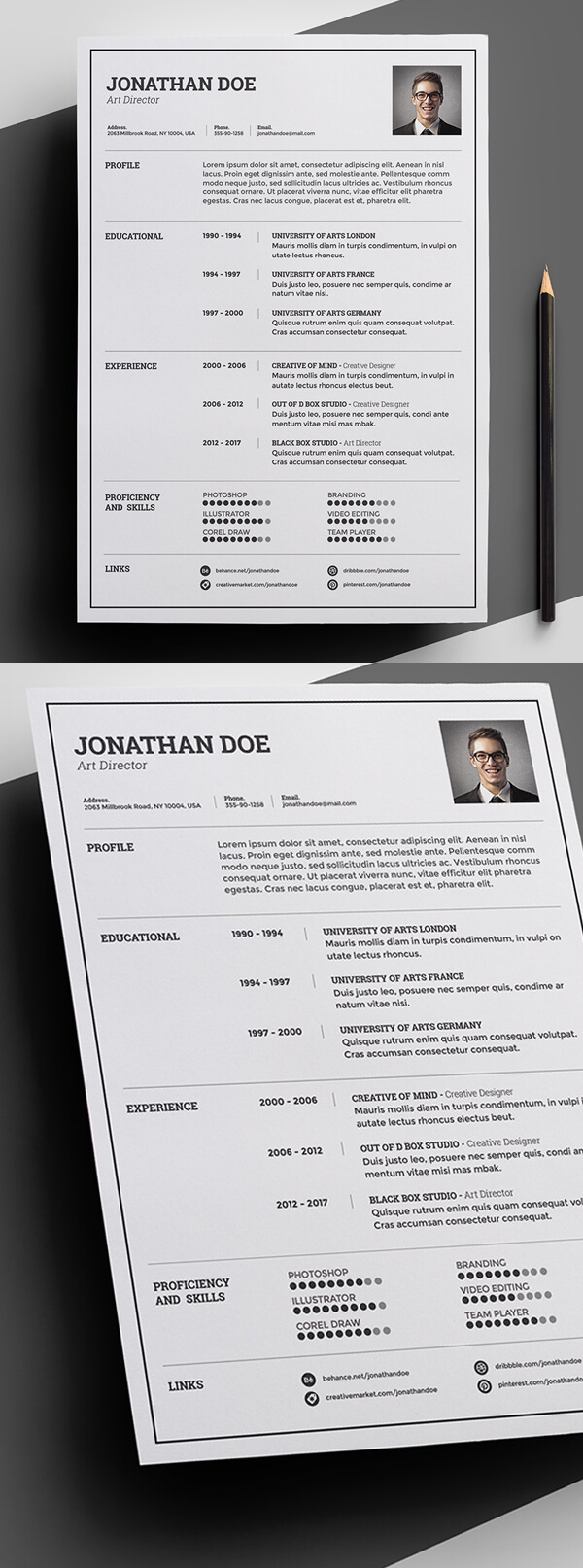 Free Minimal and Clean Resume Template