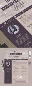 Free Creative Vintage Resume Design Template