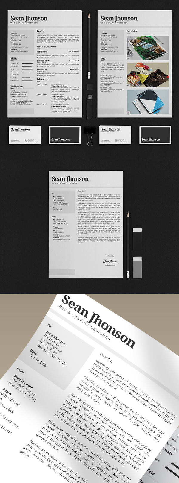 Personal Identity Kit PSD Template