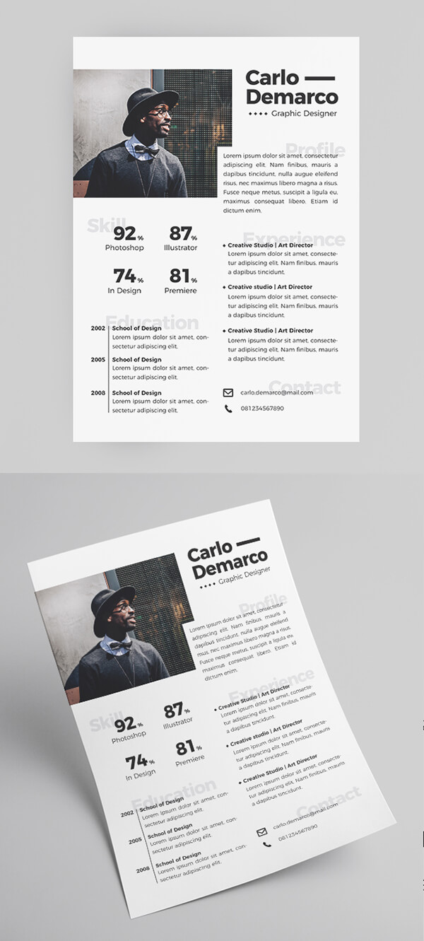 Short Free Resume Template