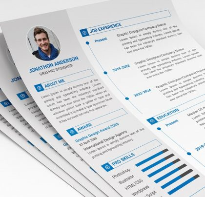 Free Simple Resume Template for Graphic Designers