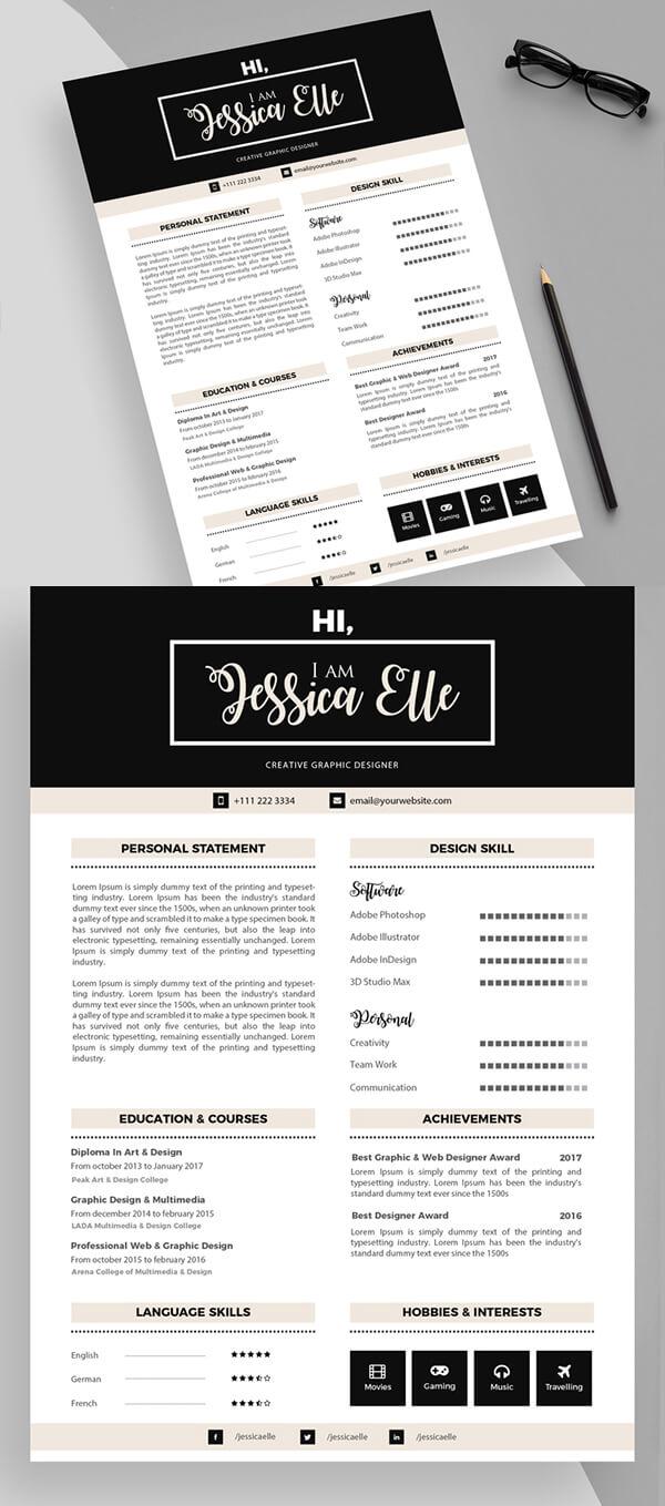 Free Neat & Premium Resume Template Design