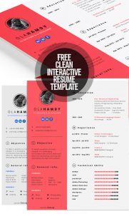 Free Clean Interactive Resume Template