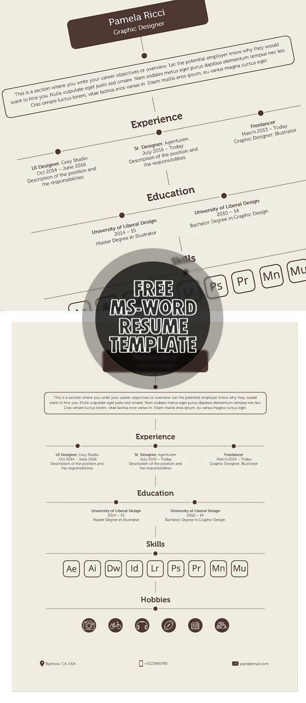 Free MS-Word Resume Template