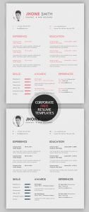 Free Resume/CV Template